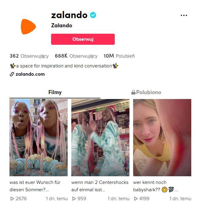 TikTok Zalando