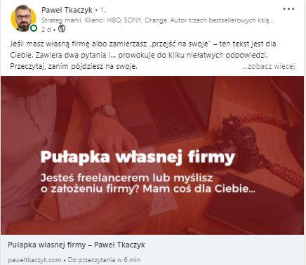 post Pawła Tkaczyka
